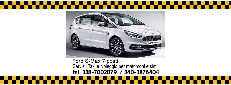Taxi Lamezia Terme, Ford S-Max 7 posti
